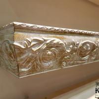 багетный карниз Прадо для тяжелых штор с креплением в стену и потолок