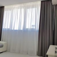 пошив штор на заказ с правильно пошитым верхним углом потолка