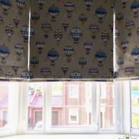оформление римскими шторами квартиру в городе Балашиха