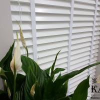 бамбуковые белые жалюзи