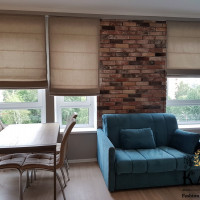 римские шторы в студию в Московской квартире
