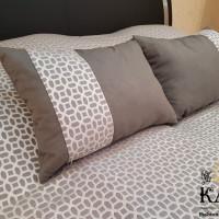 эксклюзивная вышивка - комплект подушек и покрывала
