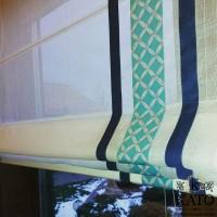 римская штора из тюля с декоративными вставками