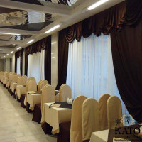 оформление шторами ресторана в Москве